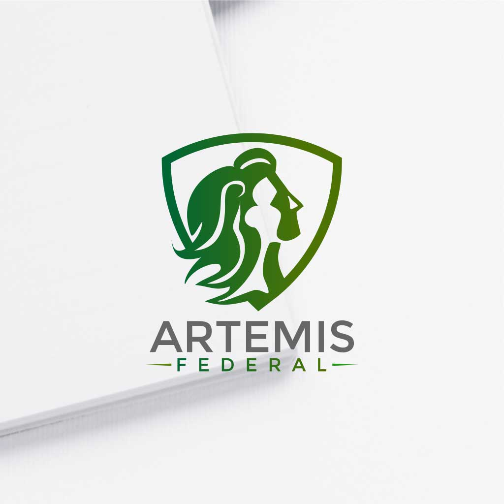 Logo design for Artemis Federal : A Woman-Owned, Cyber Security Company