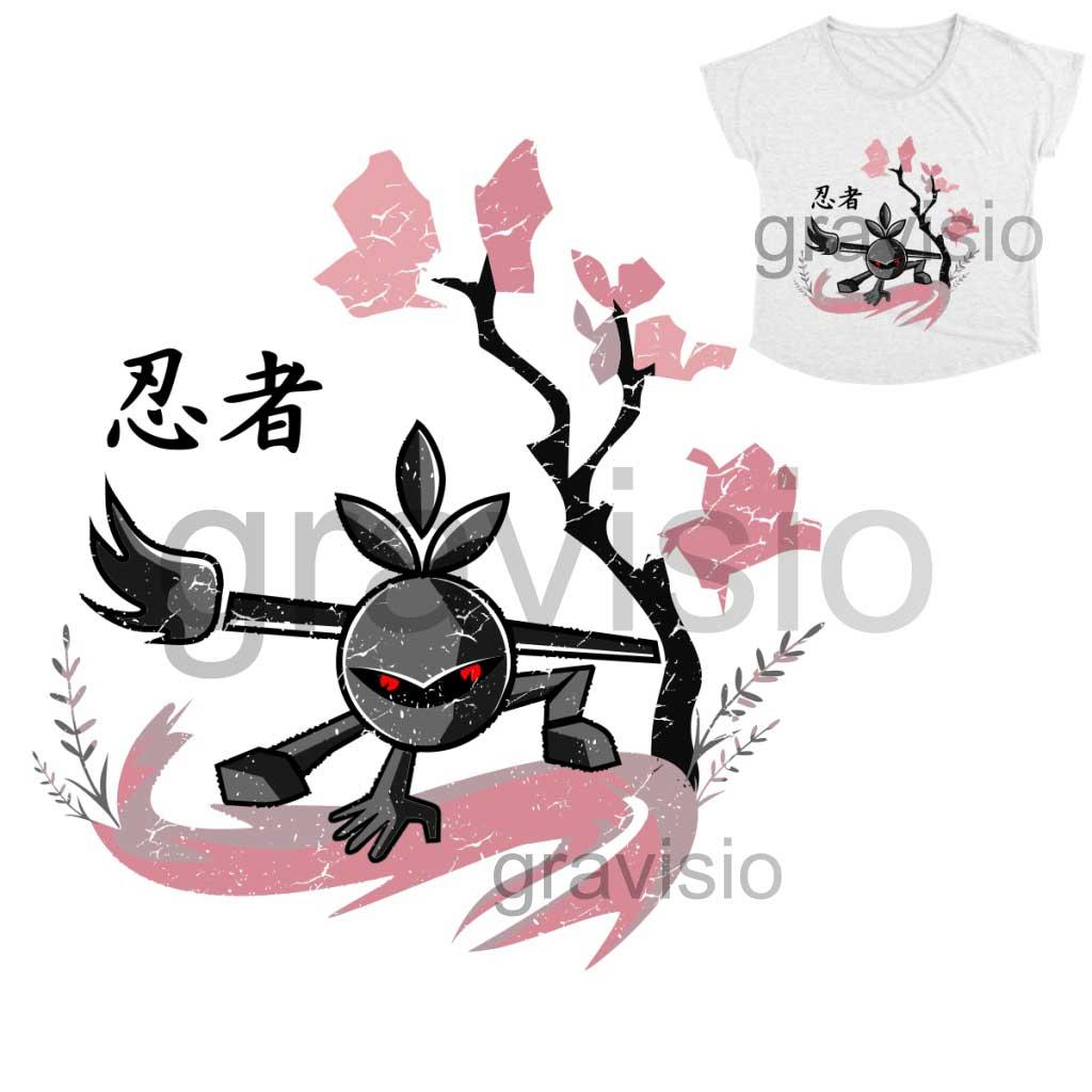 illustration art of chibi ninja designer