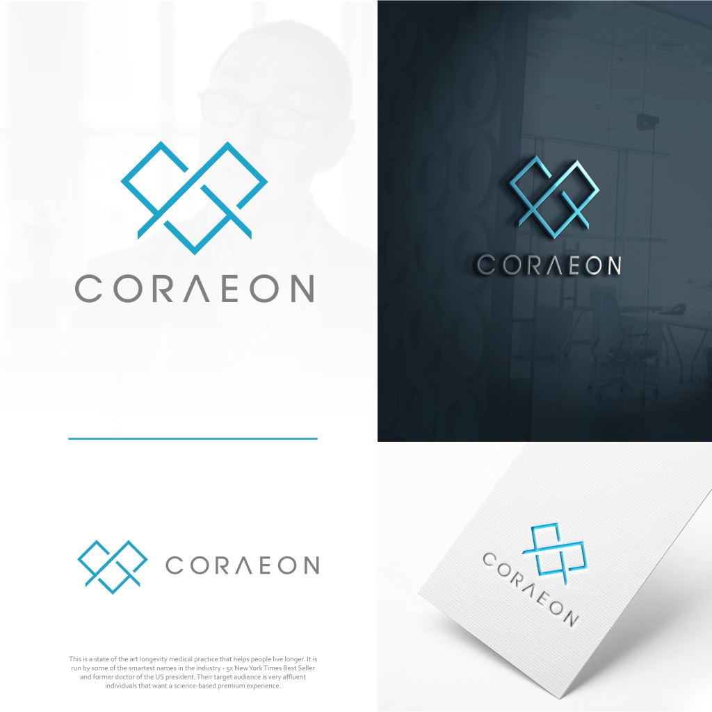 Sophisticated  Logo for Coraeon Ultimate Longevity Practice