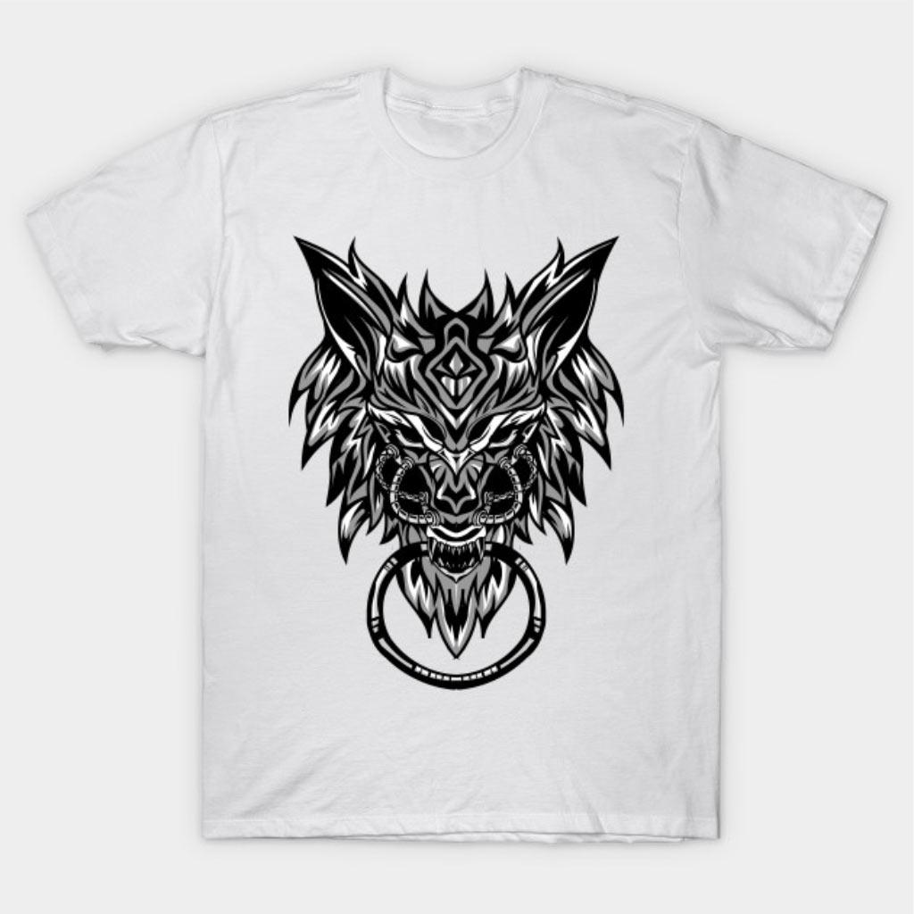 Powerfull Tribalic Wolf Design For T-shirt and Merchandise